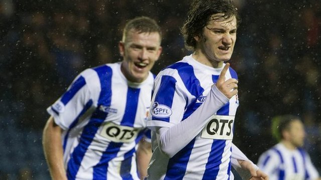Chris Johnston celebrates his Kilmarnock goal