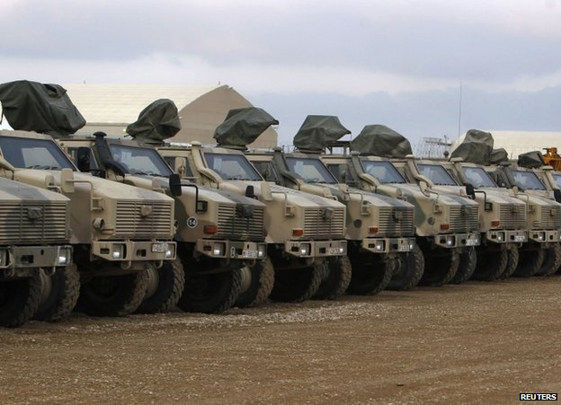German Dingo armoured cars in Mazar-e-Sharif, 22 December