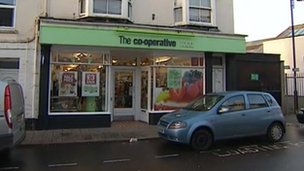 Axminster Co-op shop