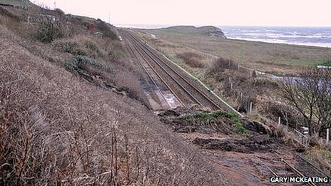 Landslip at Harrington
