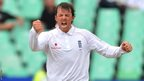 30 Dec 2009: Graeme Swann celebrates the last wicket and victory during day 5 of the 2nd test match between South Africa and England.  It was his fourth five-wicket haul of the year, becoming the first English spinner to pass 50 wickets in a calendar year.