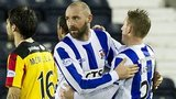 Kris Boyd celebrates against Partick Thistle