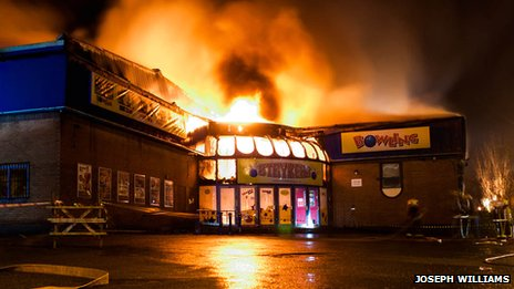 Fire at Strykers bowling alley in Wolverhampton