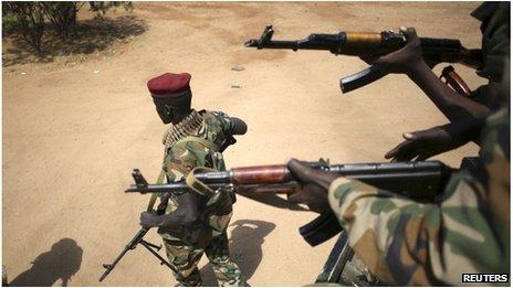 Soldiers in Juba, South Sudan