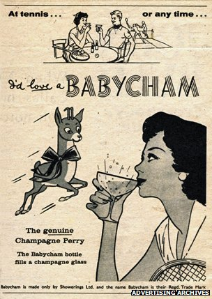 Babycham advert from 1960s