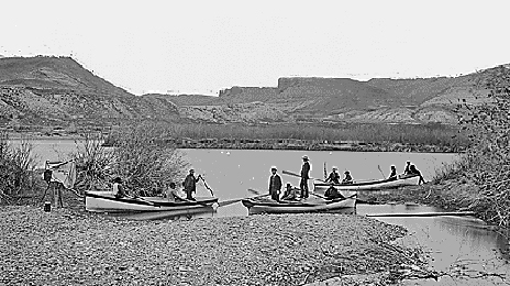 Powell party on the Green River, Wyoming, 1871