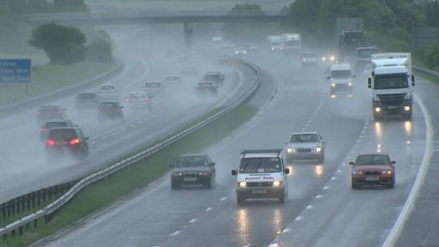 Disruption to roads due to bad weather in Cardiff