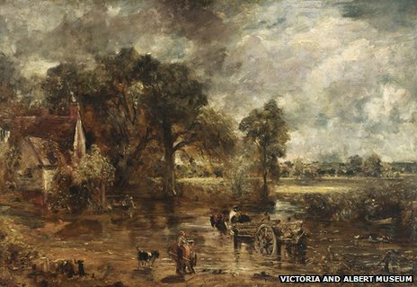 Full-scale study for The Hay Wain by John Constable, circa 1821