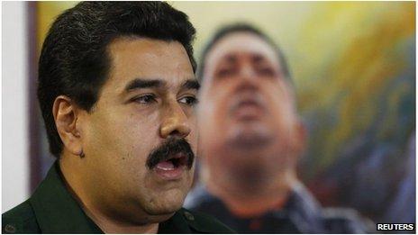 Venezuelan President Nicolas Maduro in Caracas (18 Dec 2013)