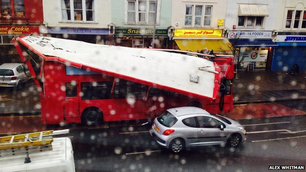 Bus crash in Kingston
