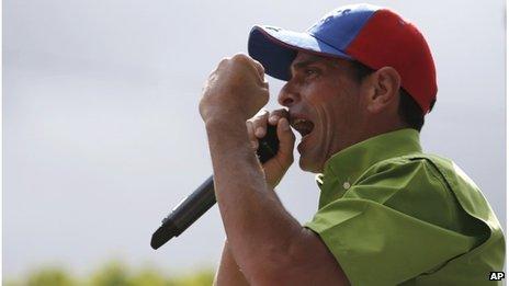Henrique Capriles campaigning (23 Nov 2013)