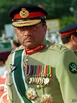 Musharraf in Aug 14, 1999, file pic