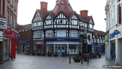 Wrexham town centre