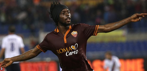 Gervinho has scored four goals in 13 appearances for Roma this season