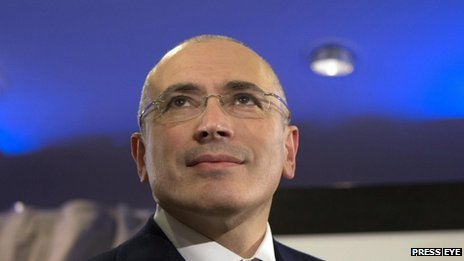 Freed Russian former oil tycoon Mikhail Khodorkovsky attends a news conference in the Museum Haus am Checkpoint Charlie in Berlin on 23 December, 2013
