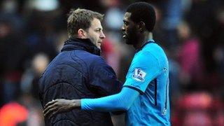 Tim Sherwood and Emmanuel Adebayor