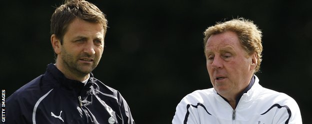 Tim Sherwood with Harry Redknapp