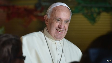 File photo: Pope Francis, 21 December 2013