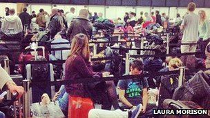 Stranded passengers at Gatwick