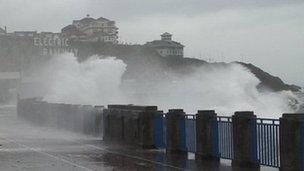 Storms hit Douglas Promenade