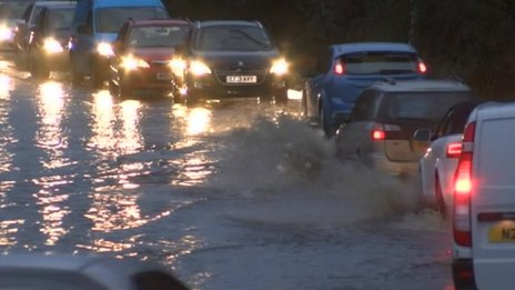 Flooding on the A6