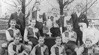 Photo of Bishop Auckland's first winning team in 1896.