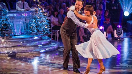 Rufus Hound and Flavia Cacace