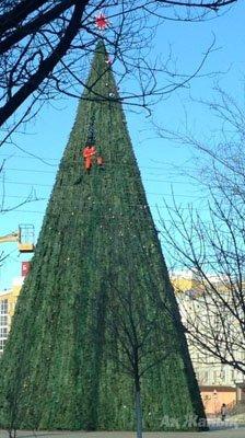 Christmas tree in Kazakhstan