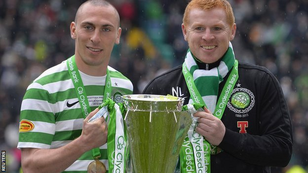 Scott Brown (left) and Neil Lennon