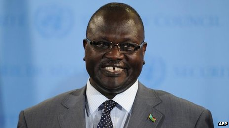 Riek Machar, July 2013