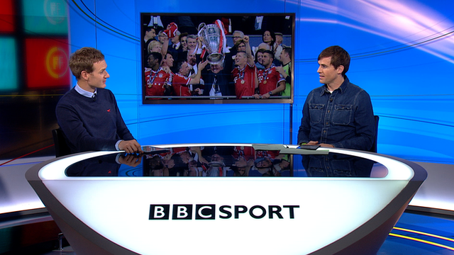 Football Focus for BBC World News with Dan Walker is joined by Kevin Kilbane (L-R)