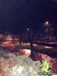 River Lemon on Monday night. Pic: Martin Bignel