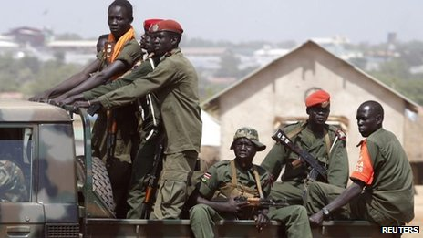 Government troops in Juba, 21 Dec