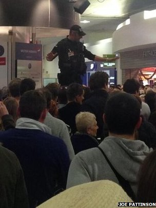Police officer at Gatwick