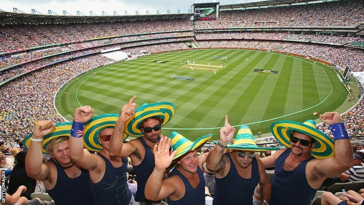 Fans at the MCG