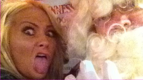 Katherine McCafferty's selfie with Santa from Saturday night at the Duke of York, Belfast