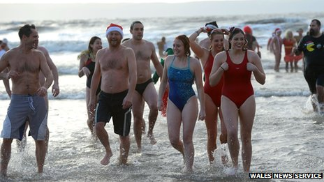 Porthcawl Christmas Day swim