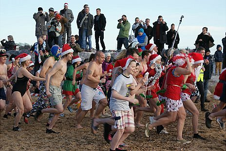Christmas Day Dippers in Felixstowe