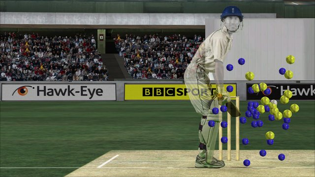 Hawk-eye image of Alastair Cook