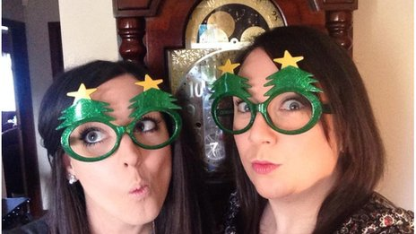 Gillian and Natalie 'stepping in Christmas' in Fermanagh