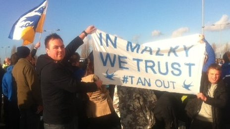 Cardiff fans' protest