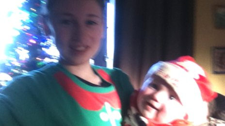 Paddy McDonald with Aoife Connolly on her first Christmas Day