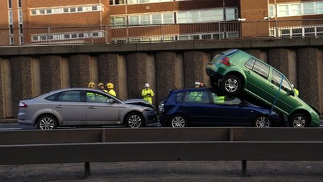 Crash near Charing cross, Glasgow