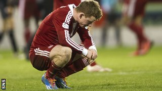 Aberdeen's Jonny Hayes missed a great chance to give the Dons the lead