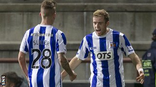 Rory McKenzie (right) celebrates his first goal of the season for Kilmarnock
