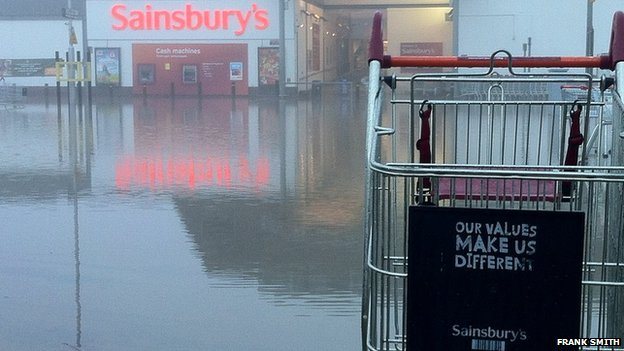 Sainsbury's car park in Tonbridge, Kent.