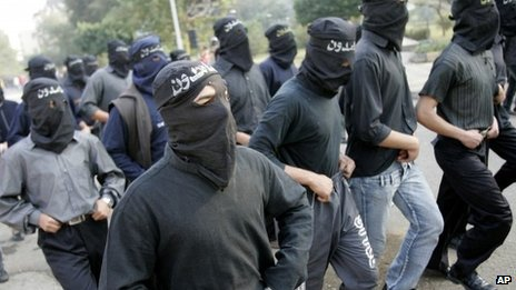 Student supporters of Muslim Brotherhood in Cairo. File photo