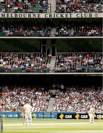 Play during day two at the MCG