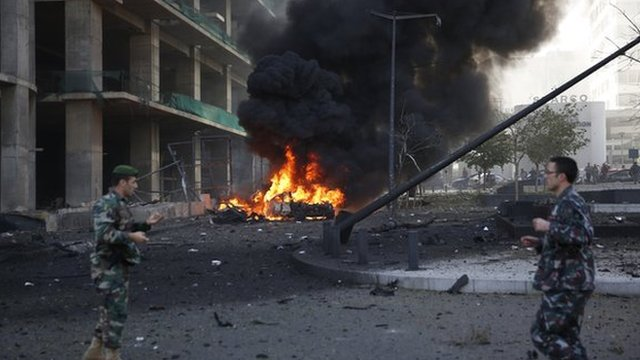 Scene after Beirut blast