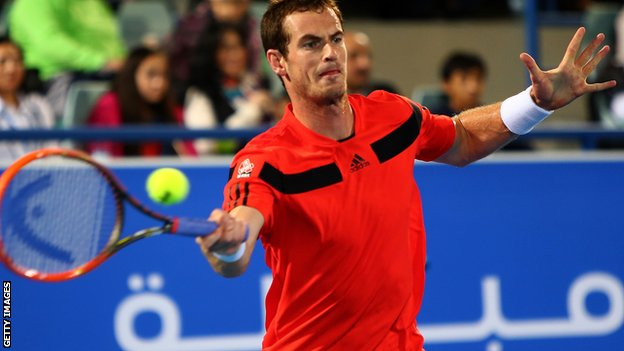 Andy Murray in Abu Dhabi